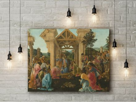 Sandro Botticelli: The Adoration of the Magi. Religious Fine Art Canvas.